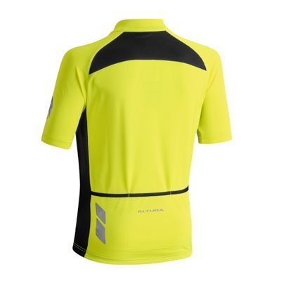 YELLOW ALTURA YOUTH NIGHTVISION SHORT SLEEVE JERSEY