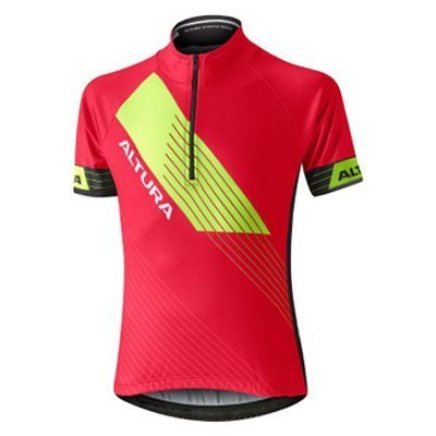 RED ALTURA YOUTH SPORTIVE SHORT SLEEVE JERSEY