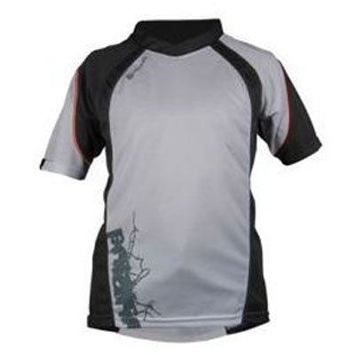 WHITE POLARIS WANDERER CHILDREN'S MOUNTAIN BIKING SHIRT