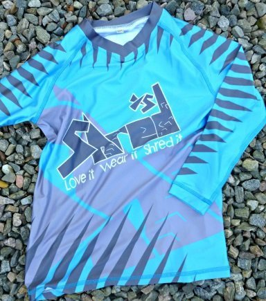 Shred XS Silver & Blue Rhino Jersey