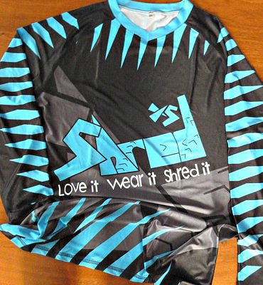 Shred XS Freeride Blue & Black Shark Cycling Jersey