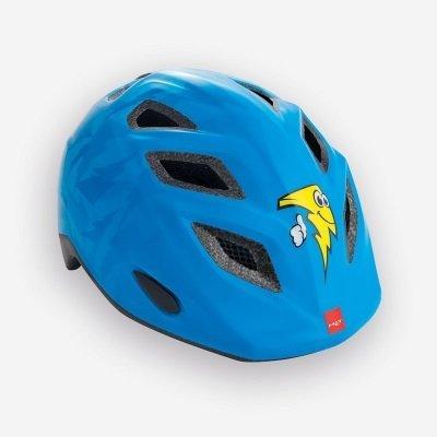 Met Elfo Helmet Blue Thunderbolt