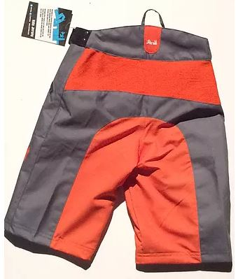 Shred XS Enduro Shorts Orange & Grey