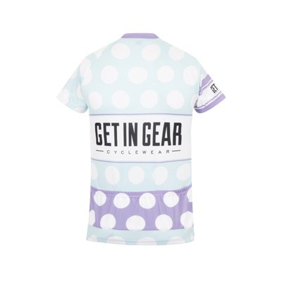 Get In Gear Polka Dot Short Sleeved Cycling Jersey