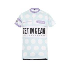 Get In Gear Polka Dot Kids Cycling Jersey