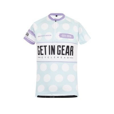 Get In Gear Polka Dot Kids Cycling Jersey