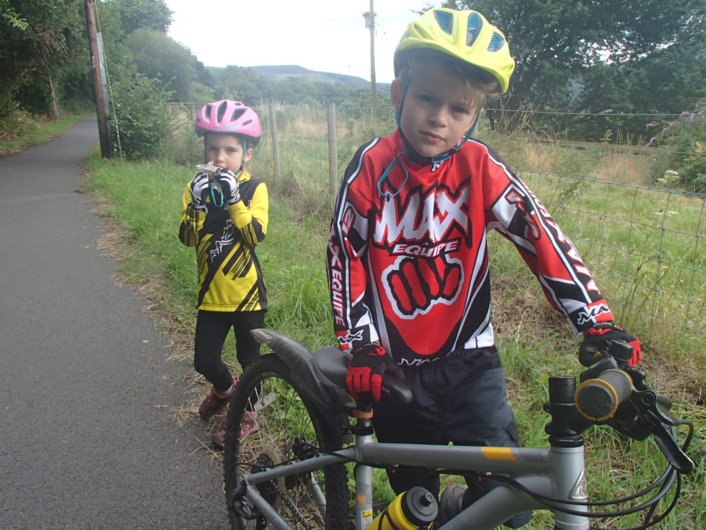 Contemplating the remaining Taff Trail