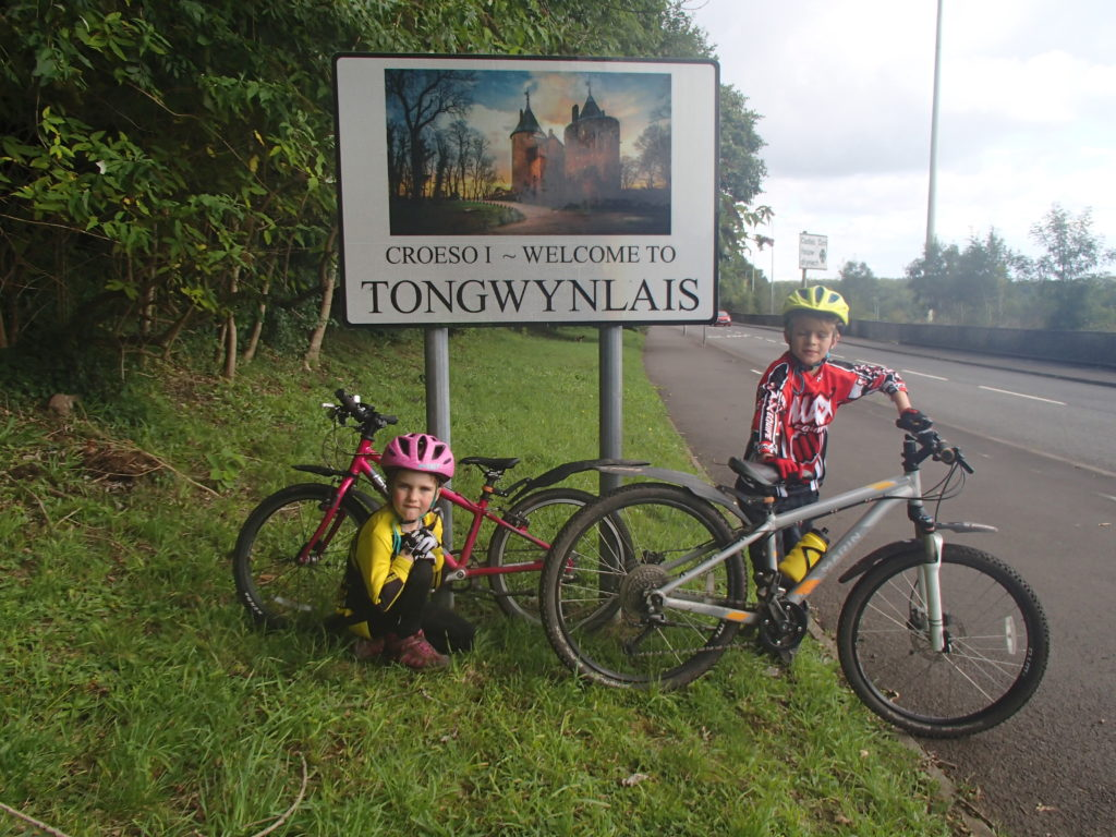 We make Tongwynlais on The Taff Trail