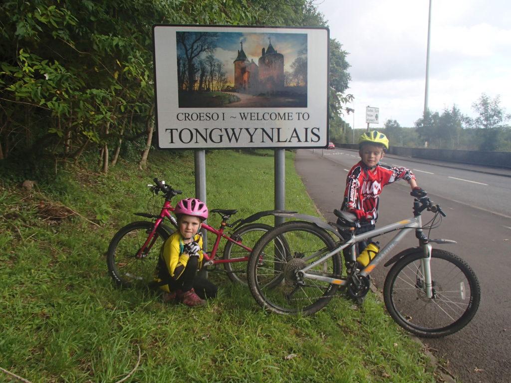 We make Tongwynlais on The Taff Trail