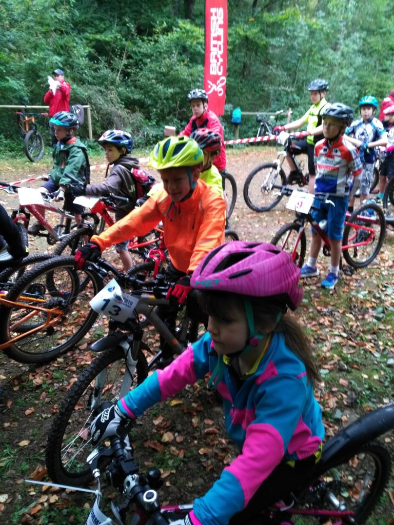 on the starting line at the Summit MTB Club event
