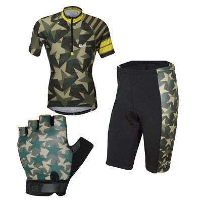 polaris starts and stripes kids cycling kit