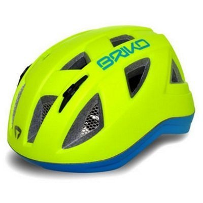 Briko Fluo Yellow & Blue Paint Helmet