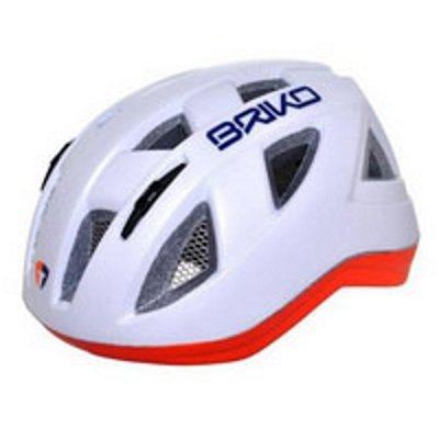 Briko White & Orange Paint Helmet
