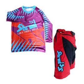 Shred XS Freeride Blue & Red Shark with Shorts Bundle