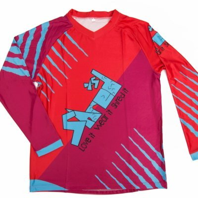 Shred XS Raptor Downhill MTB Jersey Front