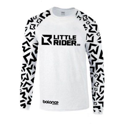 Little Rider Co Balance Jersey White Front