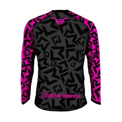 Little Rider Co Classic Jersey Hot Pink Back