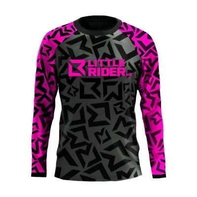 Little Rider Co Classic Jersey Hot Pink Front