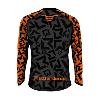 Little Rider Co Classic Jersey Orange Blast Back