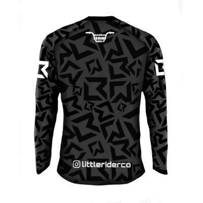 Little Rider Co Classic Jersey Stealth Black Back