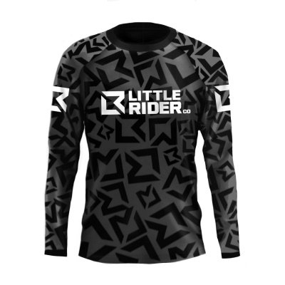 Little Rider Co Classic Jersey Stealth Black Front