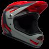 Bell Sanction Full Face MTB Helmet - Crimson / Slate / Grey - Side