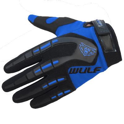 Wulfsport Attack Kids Cycling Glove Blue