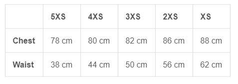 Shutt Cadetti Size Guide