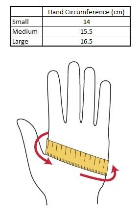 Chiba Gloves Size Guide