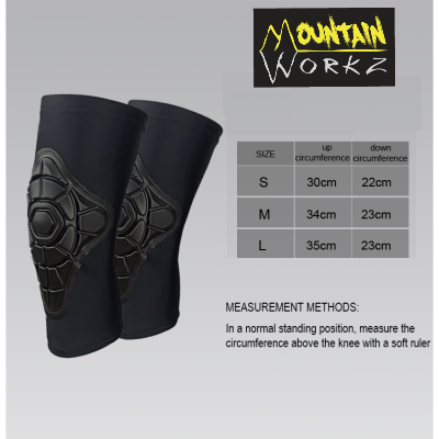 Mountain Workz Kids Cycling Knee Pad Size Guide