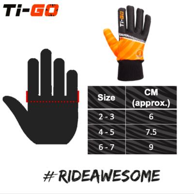Ti-Go Totes Warm Kids Winter Cycling Glove Palm Sizing