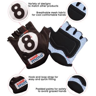 Kiddimoto Kids Cycling Gloves - 8 Ball Tech Info