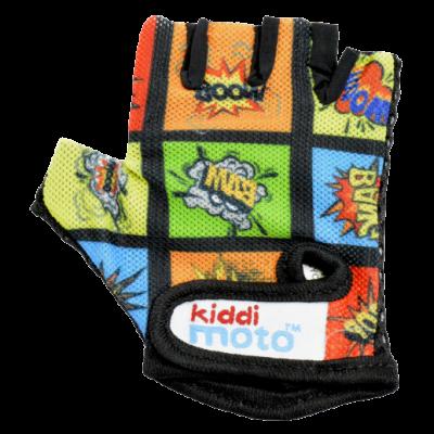 Kiddimoto Kids Cycling Gloves - Comic