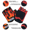 Kiddimoto Kids Cycling Gloves - Flames Tech Info