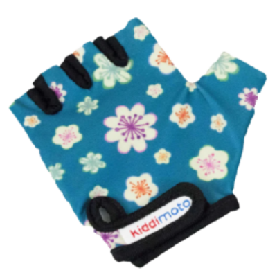 Kiddimoto Kids Cycling Gloves - Fleur