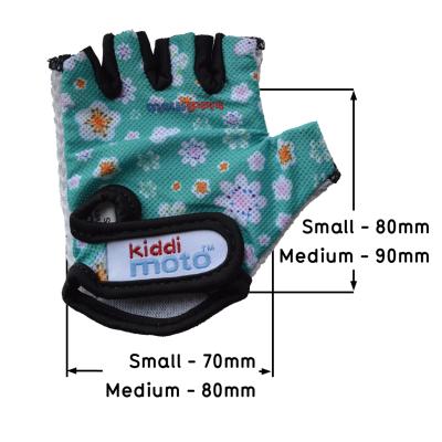 Kiddimoto Kids Cycling Gloves - Fleur Sizing