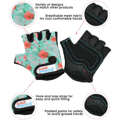 Kiddimoto Kids Cycling Gloves - Floral Tech Info