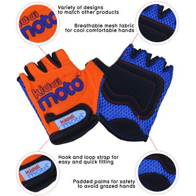 Kiddimoto Kids Cycling Gloves - Orange Tech Info