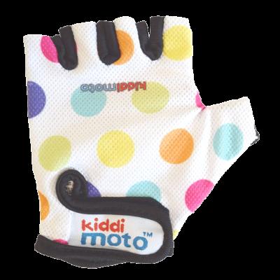 Kiddimoto Kids Cycling Gloves - Pastel Dotty