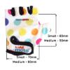 Kiddimoto Kids Cycling Gloves - Pastel Dotty Sizing Info