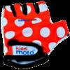 Kiddimoto Kids Cycling Gloves - Red Dotty