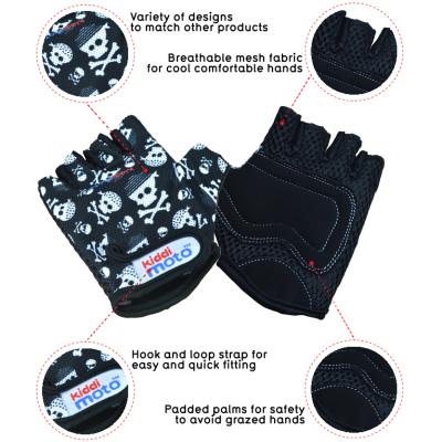 Kiddimoto Kids Cycling Gloves - Skullz Tech Info