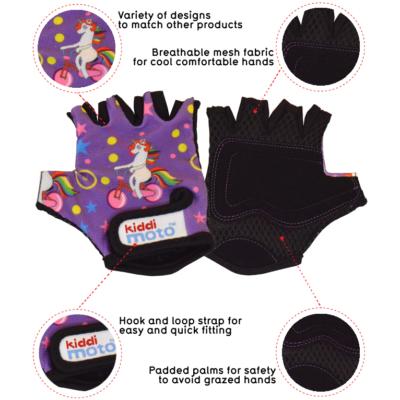 Kiddimoto Kids Cycling Gloves - Unicorn Tech Info