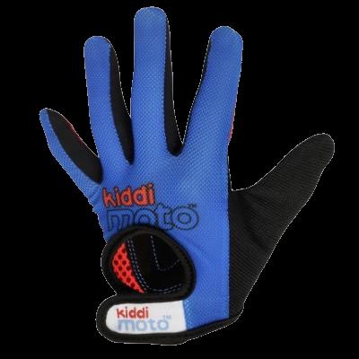 Kiddimoto Kids Full Fingered Cycling Gloves Blue