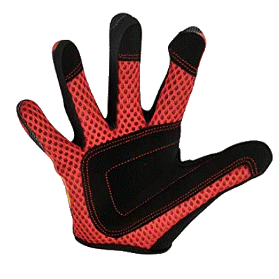 Kiddimoto Kids Full Fingered Cycling Gloves Flames Palm