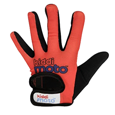 Kiddimoto Kids Full Fingered Cycling Gloves Red