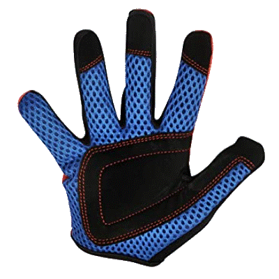 Kiddimoto Kids Full Fingered Cycling Gloves Red Palm