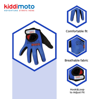 Kiddimoto Kids Full Fingered Cycling Gloves Technical Info