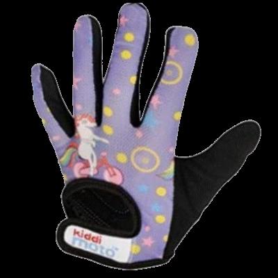 Kiddimoto Kids Full Fingered Cycling Gloves Unicorn